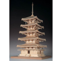 Woody JOE 1:75 法隆寺五重塔 木质拼插模型