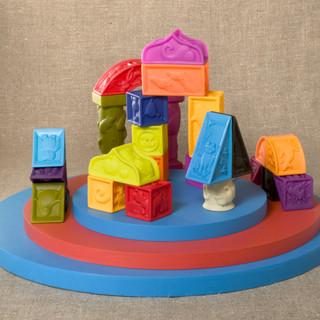 B. Elemenosqueeze Blocks 胶质软积木